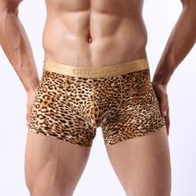 COCKCON Leopard Sexy Mens Underwear Boxers Bulge Enhancing P