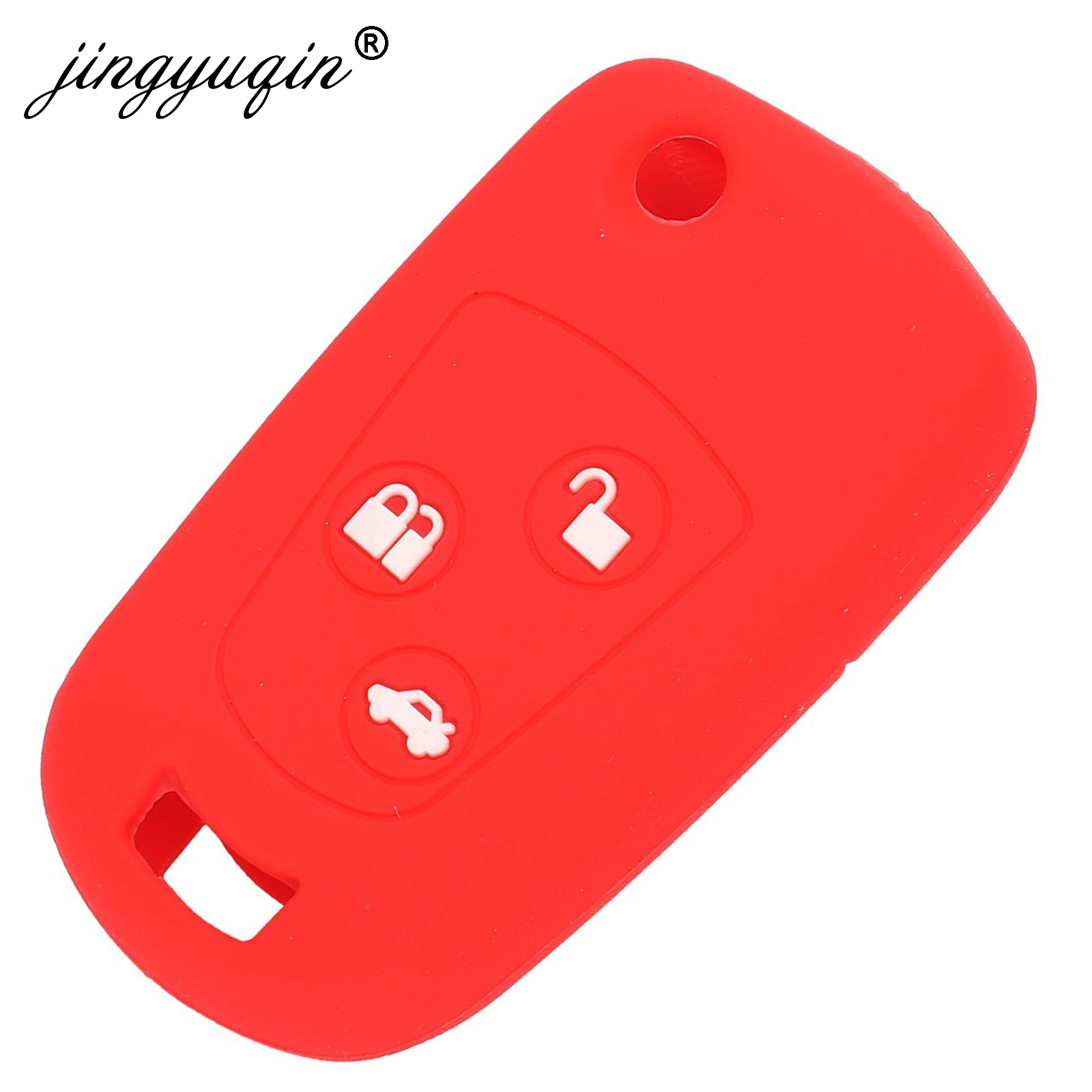 Image 2 - jingyuqin Flip 3 Buttons Remote Key Fob Silicone Case For Ford Focus Mondeo Fiesta Modified Flip Key Cover-in Key Case for Car from Automobiles & Motorcycles