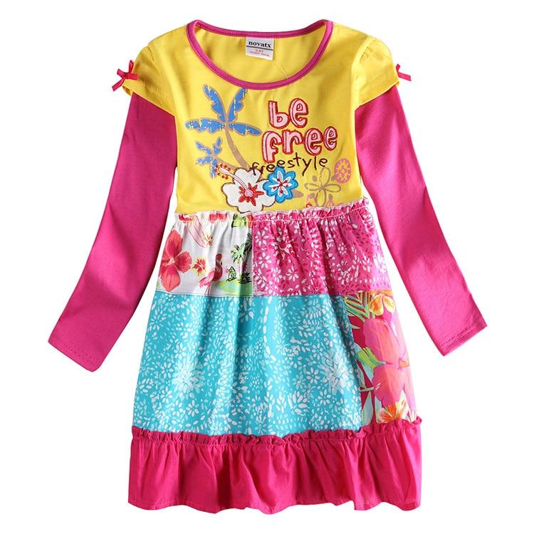 цены Tutu Dress Baby Girl Spring Autumn Long Sleeve Flower Embroidered Princess Dress Kids Dresses For Girls Casual Cute Child Dress