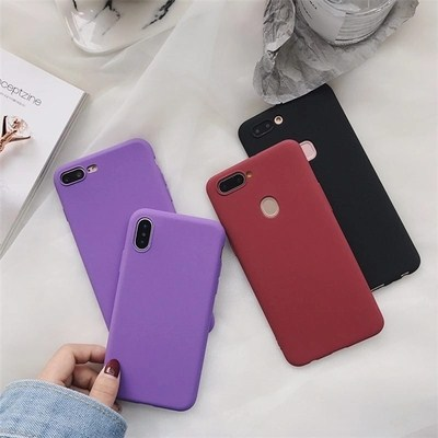 Cover For Huawei P Smart Case 360 Protection Soft Silicone Matte Phone Cases Capa Fundas purple wine black