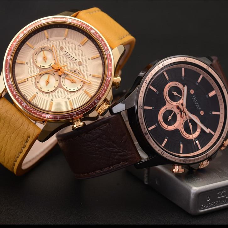 Julius Men s Homme Wrist Watch Quartz Hours Top Fashion Retro Sport Dress Leather Boy Birthday