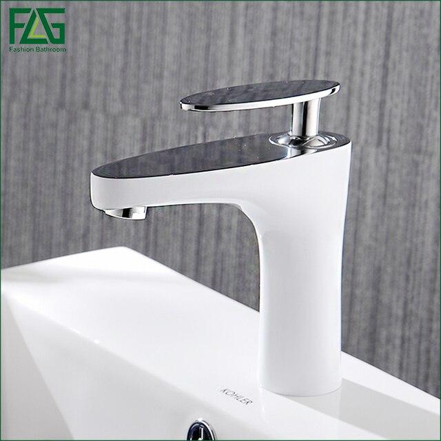 FLG Basin Faucet Grilled White Paint Chrome Finish Bathroom Faucet - Chrome paint for bathroom fixtures