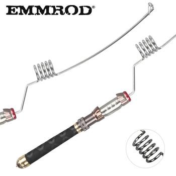 EMMROD Stainless Steel Fishing Rod Short Portable Spinning rod EVA+Stainless Steel+Aluminum Handle Ice rod Sea Boat pole GZ
