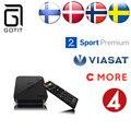 GOTiTS905 Escandinavos Suécia IPTV caixa de TV Android IPTV IPTV Noruega Dinamarca Dinamarquês Norueguês Sueco 1850 + Europa IPTV Set TV caixa