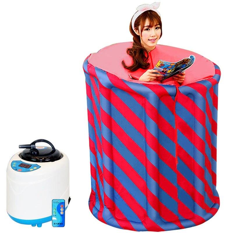 Famille sauna à vapeur boîte de sauna à la maison la sueur boîte de vapeur sauna à vapeur ménage khan hammam fumigation machine pliage vapeur