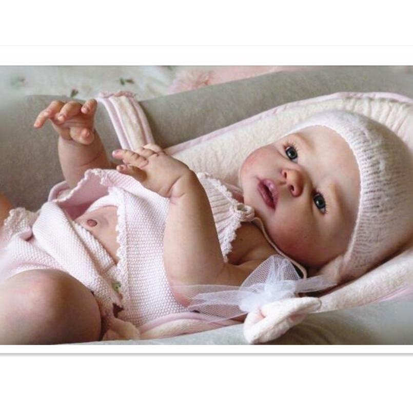 DIY Vinyl Silicone Reborn Baby Doll Kit Unpainted Blank Doll Kit Toys for Children,Soft Reborn Dolls Parts Educational Toys