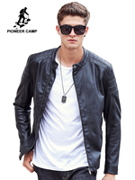 Pioneer Camp Motorcycle Leather Jackets Men Autumn Spring Leather Clothing Male casual Coats Brand clothing 611310