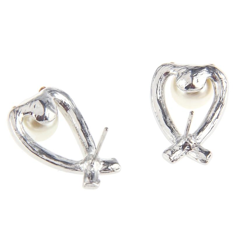 2018 Fashion Jewelry Crystal Pearl Earring Jewelry Jewelry Cross Pearl Flash Diamond Womens Elegant Earrings New