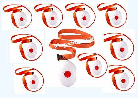 Free shipping! Wireless Nurse system, oval round shape necklace bell, Medical call pager, panic button, for patient or eldly