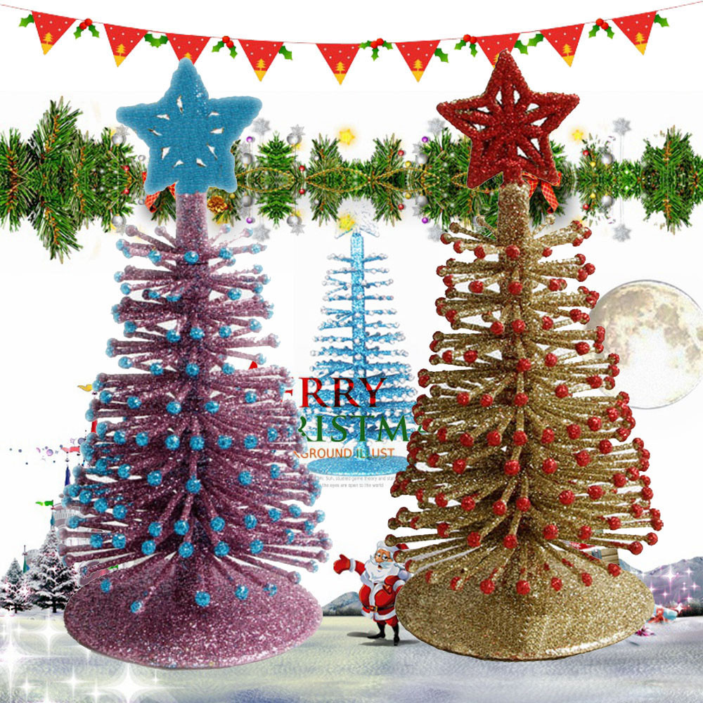 5da19ac0cf50 High Quality 2018 Hot Sale Artificial Tabletop Mini Christmas Tree  Decorations Festival Miniature Xmas Tree Dropshipping