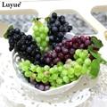 Artificial Fruit Grapes Plastic Fake Decorative Fruit Lifelike Home Wedding Party Garden Decor mini simulation fruit 3pcs/lot