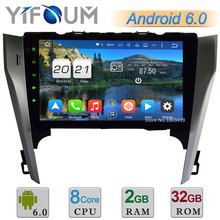 Octa Core WIFI Android 6.0 10.1″ 2GB RAM 32GB ROM 4G DAB+ FM Car DVD Player Radio For Toyota Camry 2012 2013 2014 GPS Navigation