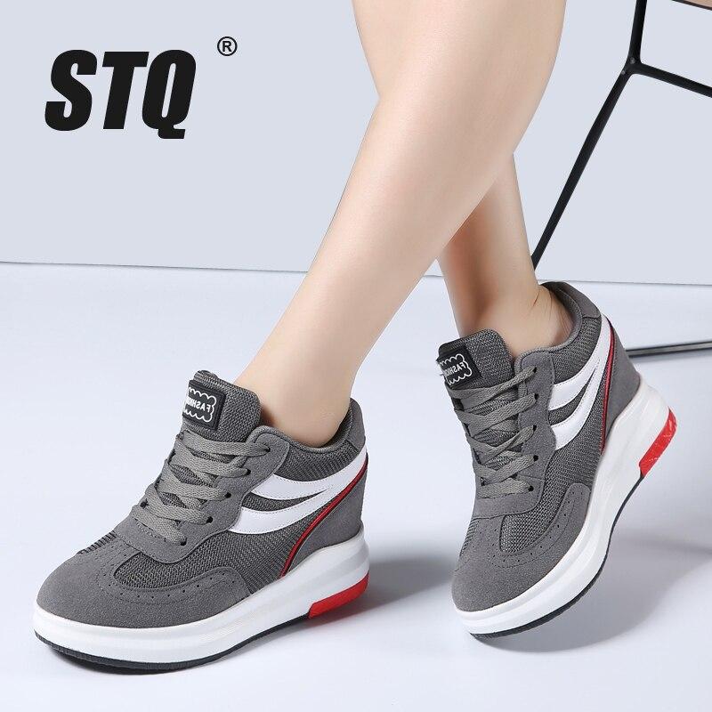 STQ/2018 г. Высокое качество Женские ботинки зимние повседневные брендовые теплые увеличивающие рост женская обувь замшевые ботинки на плоской подошве женщина 609