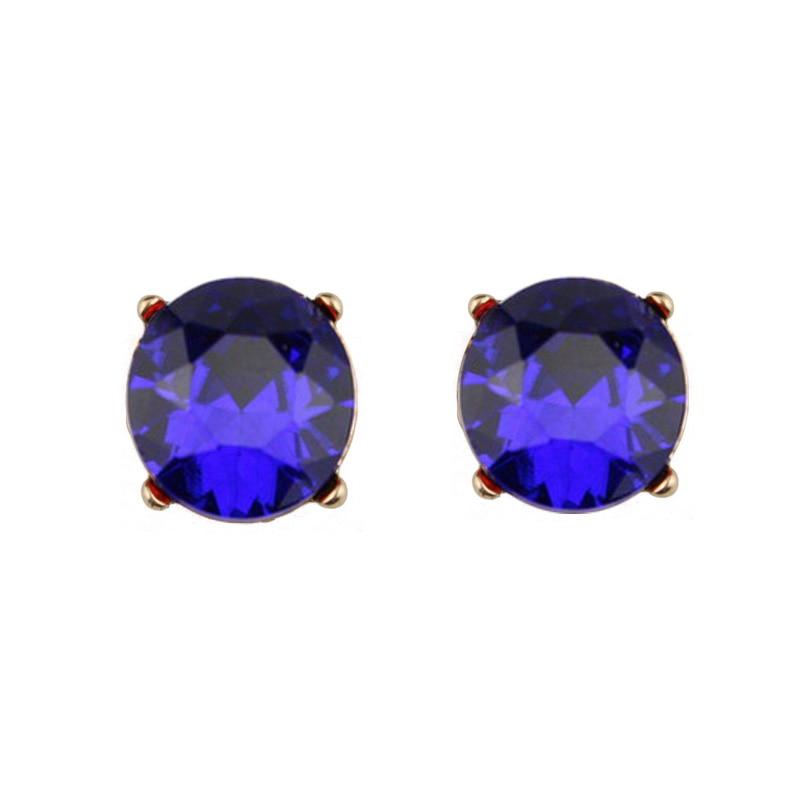 ZWPON srebrne baze kristalne naušnice za žene modni nakit plavi klinac naušnice ljeto 2018 najnovije vruće prodaja naušnice