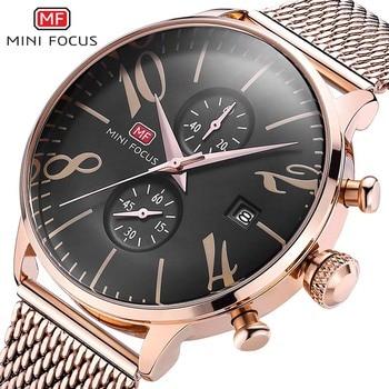 Relogio Masculino MINIFOCUS Mens Watches Brand Luxury Men Military Sport Chronograph Wristwatch Male Gold Quartz Watch Clock
