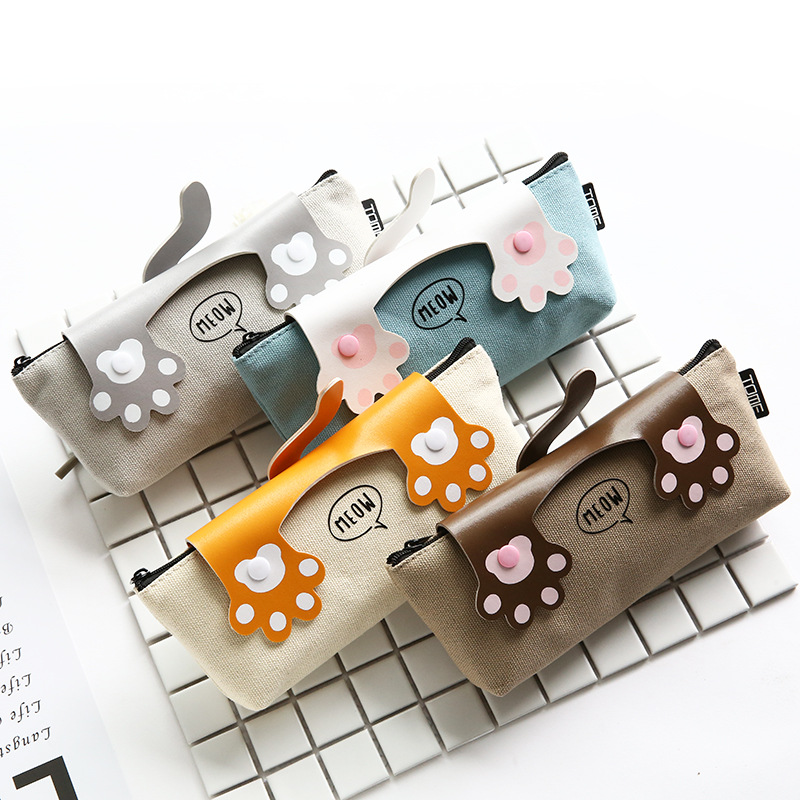 Cute Cat Claw School Pencil Case Cartoon Pencil Box Pen Bag Stationery Pouch Boys Girls Gift School Supplies Zakka