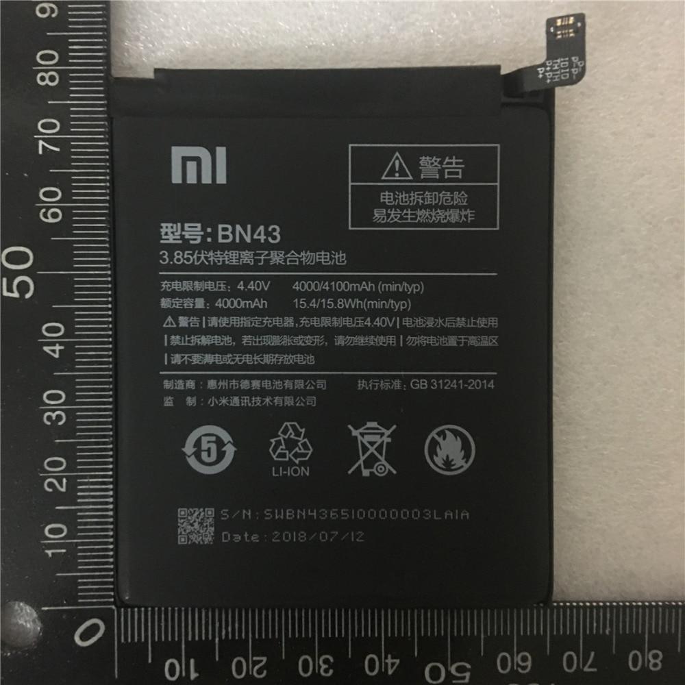 100% Original Echt 4100 mah BN43 Batterie Für Xiaomi Redmi Hinweis 4X Snapdragon 625/Hinweis 4 globale Snapdragon 625