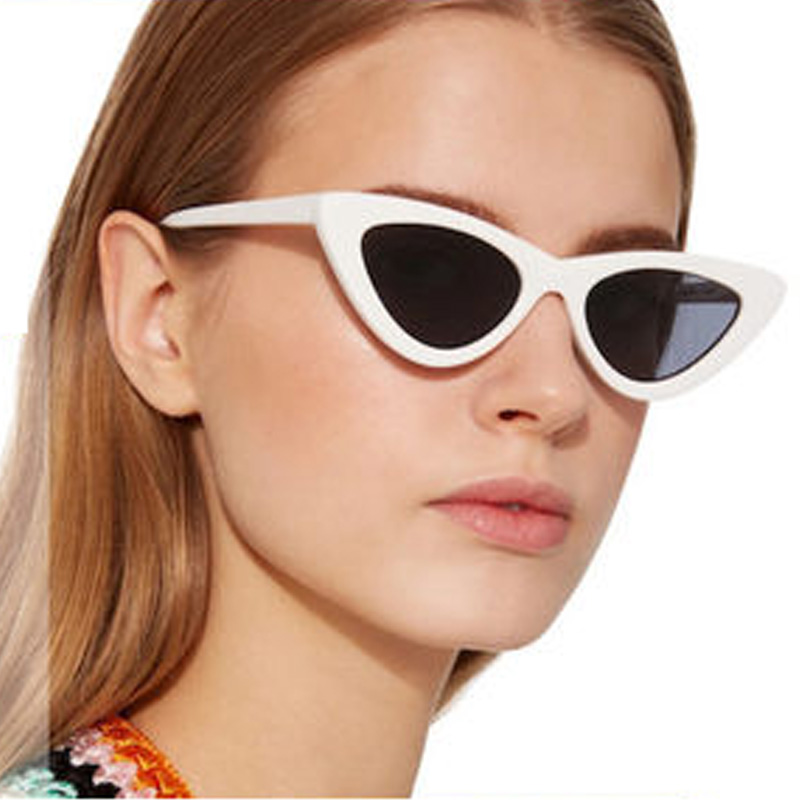 Fashion <font><b>Women</b></font> <font><b>Cat</b></font> <font><b>Eye</b></font> <font><b>Sunglasses</b></font> <font><b>Brand</b></font> <font><b>Designer</b></font> Vintage Triangular Cateye Sun Glasses <font><b>Sexy</b></font> Female Small Shade Eyewear UV400 image