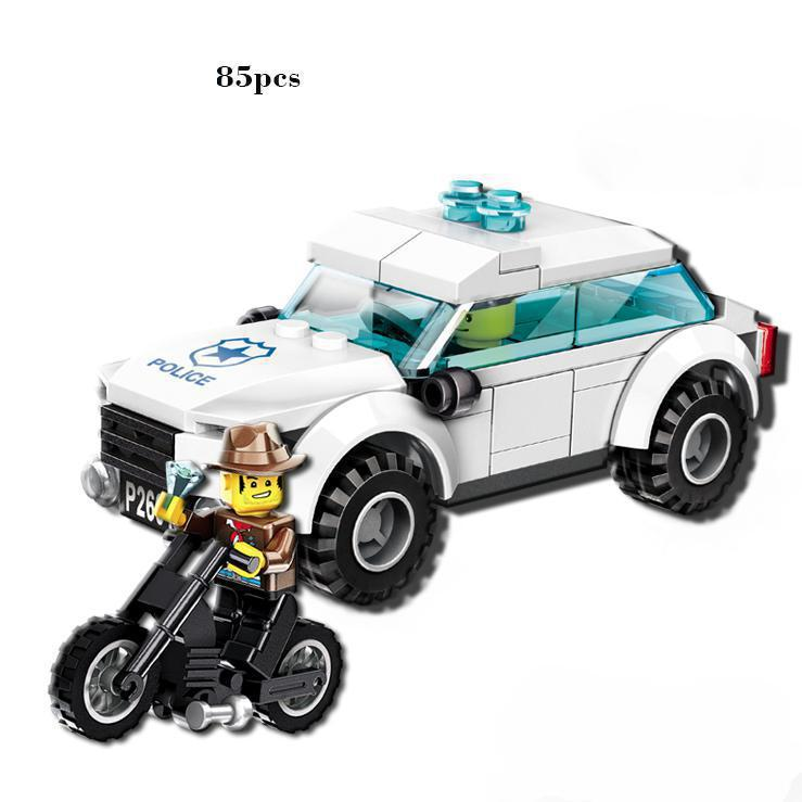 BOHS Police Chasing Robbers Gangsters Model Building Blocks Toy for Boys sportsart a 955