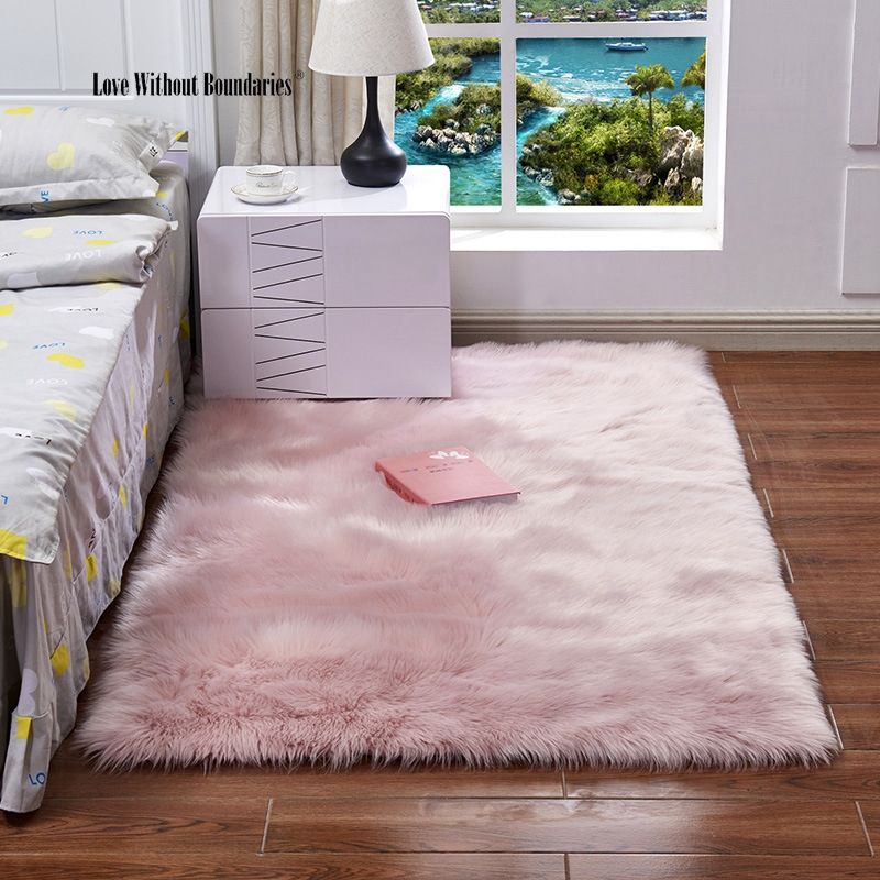 Palace Rugs High Quality Smooth And Imitation Wool Carpet Bedroom Mat Elegant Cushion Window Cushion Mat Carpet
