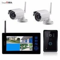 SmartYIBA 2.4G 7 Auto photo Video Record Door Phone CCTV Real Time Surveillance Camera Wireless System Video Intercom Doorbell
