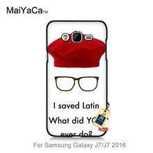 lovely Plastic Hard phone Accessories Case For case GALAXY J7 Wes Anderson Max Fischer Rushmore Movie Quote