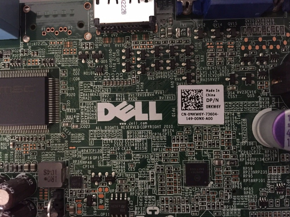 US $99 0 |For Dell OPTIPLEX 990 USFF LGA1155 Q67 Desktop Motherboard NKW6Y  100% Tested Good Quality-in Motherboards from Computer & Office on