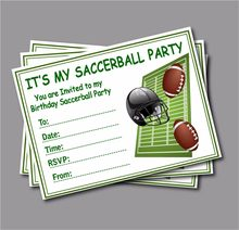 14 Pcs Lot Soccerball Birthday Invitation Card Kids Football Baby Shower Invites Sports Party Decoration Supply Free Shipping
