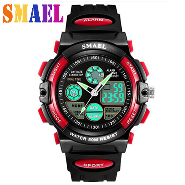 2016 Fashion Brand New Children Watch Outdoor Sports Kids Boy Girls LED Digital Alarm Waterproof Wristwatch Children's Watches