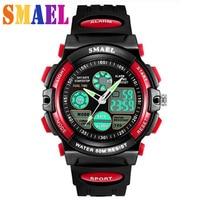 2018 Fashion Brand New Children Watch Outdoor Sports Kids Boy Girls LED Digital Alarm Waterproof Wristwatch Children's Watches