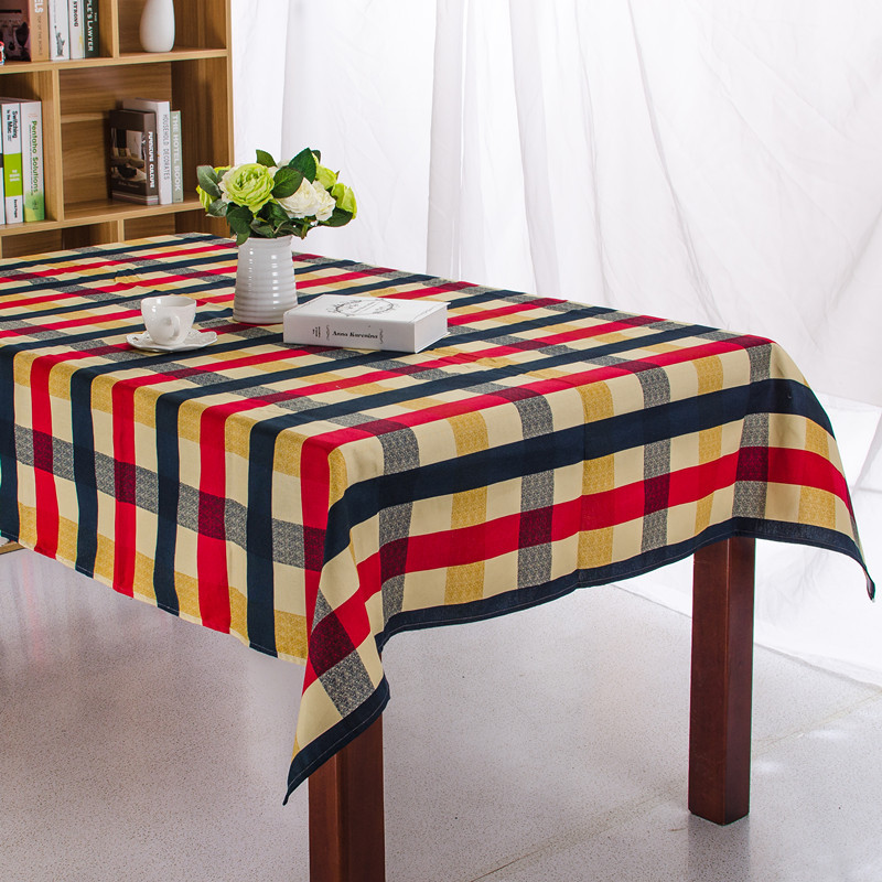 Cotton Printed Modern Plaid Knitted Tablecloth for Restaurant Home Outdoor Hotel Party Table Cloth ...