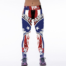 NEW 125 Sexy Girl Leggins football rugby patriot team 3D Prints Elastic High Waist Workout Fitness Women Leggings Pants Trousers