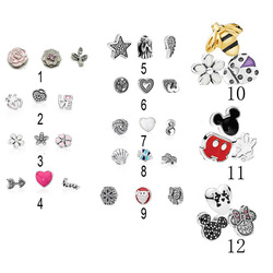 Authentic 925 Silver Petites For Women Locket Necklaces Memories Floating Minnie Mickey Meadow Charms for Pandora Jewelry