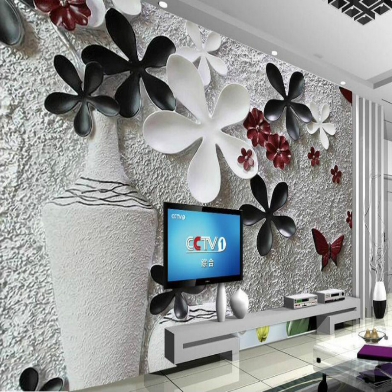Floral relief wall background wallpaper 3d Home Improvement decor Wallpaper for Walls 3d Decorative mural Wallpapers 3d wall paper rolls wallpaper for walls 3d murals hd black and white tree simple 3d tv background wallpapers home improvement