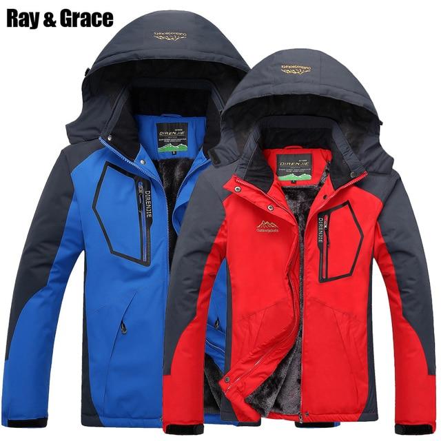 RAY GRAÇA Mulheres Jaqueta Homens Inverno Quente Caminhadas Esporte Ao Ar  Livre Jaqueta Impermeável À Prova 1045c0c2fd54e