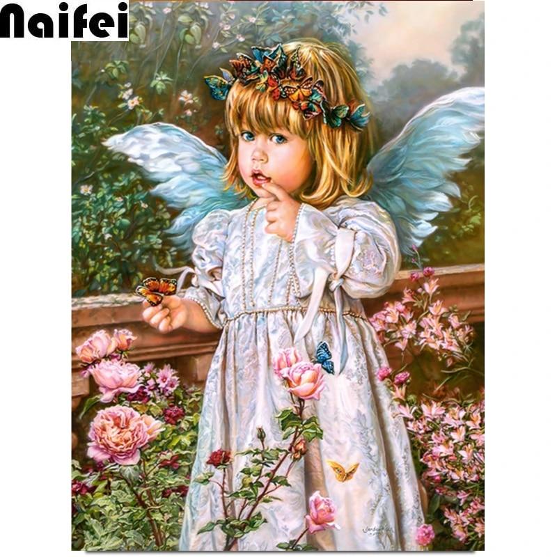 G-real Angel Girl Diamond Embroidery 5D Diamond DIY Painting Cross Stitch Crafts