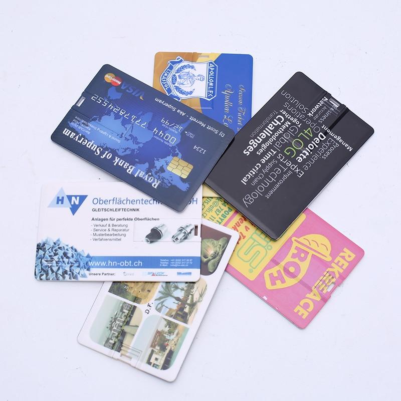 10 PCS / LOT Kartu Kredit Bisnis Usb flash drive Pen memory stick - Penyimpanan eksternal - Foto 5