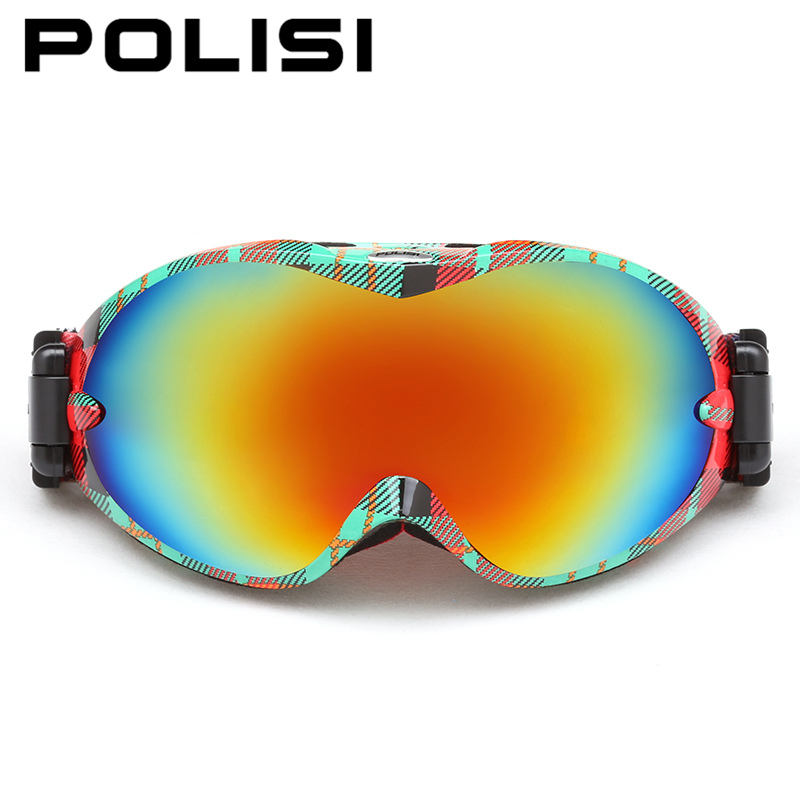 POLISI Men Women Snow Skiing Eyewear Winter Ski Snowboarding oggles UV Protection Double Layer Lens lasses Motocross oggles от Aliexpress INT