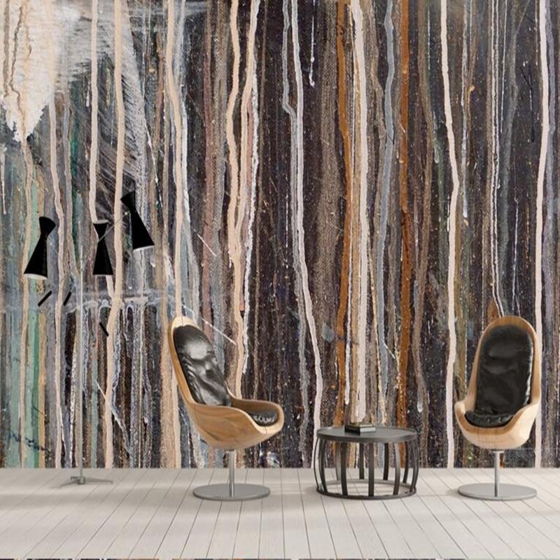 Us 21 34 47 Off Modern Wall Art Custom Wallpaper Murals Abstract Texture Oil Living Room Paint Ideas Wallpaper Design For Bedroom Room Decor In