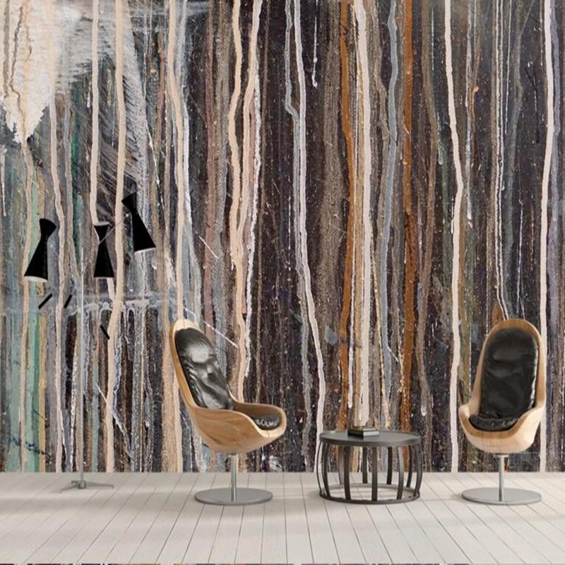 Modern Wall Art Custom Wallpaper Murals Abstract Texture Oil Living Room Paint Ideas Wallpaper Design For Bedroom Room Decor Custom Design Wallpaper Custom Wallpaperdesigner Wallpaper Aliexpress