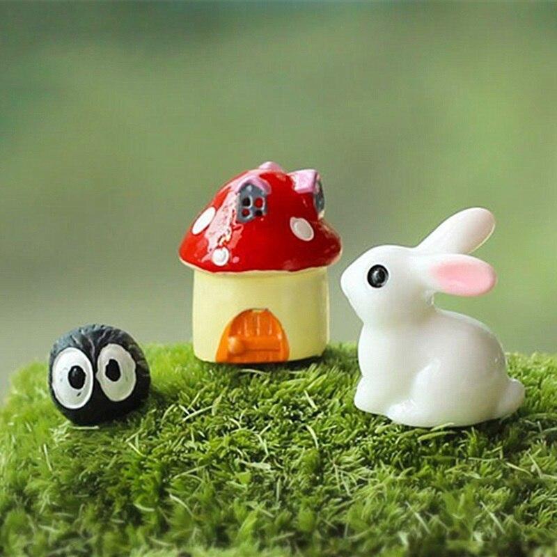 Gnome Garden: 3Pcs/lot Rabbit Mushroom Fairy Garden Miniature Gnomes