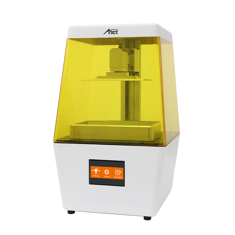 New DLP 3.5'' LCD Touch Screen Anet N4 405nm UV Photosensitive Resin 3D Printer Supper High precision USB Offline Printing(China)