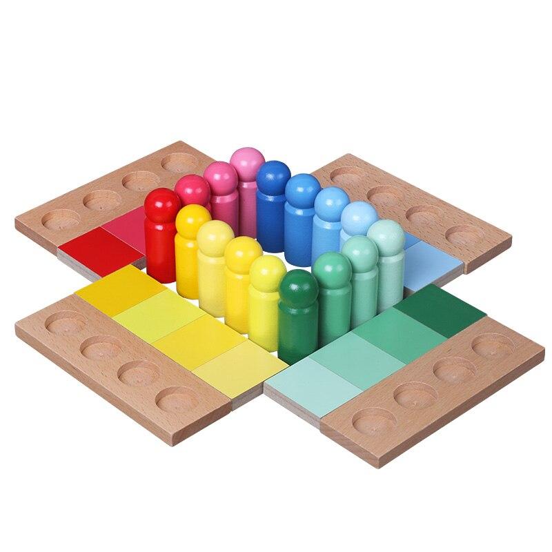 BBK zabawki dla dzieci Montessori dopasowanie kolorów kolor podobieństwo sortowania w wieku przedszkolnym zabawki edukacyjne dla dzieci w Drewniane klocki od Zabawki i hobby na  Grupa 1