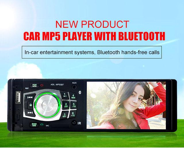 2017 New 4.1 ''polegadas 1080 P tela TFT jogador rádio Do Carro MP4 MP5 Apoio Câmera de visão Traseira 12 V Carro de Áudio e vídeo FM/USB/SD/MMC 1 Din