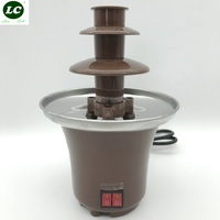 Mini DIY Chocolate Fountain Machine Falls Filling Machine Melting Tower with Heating Home Child Activities