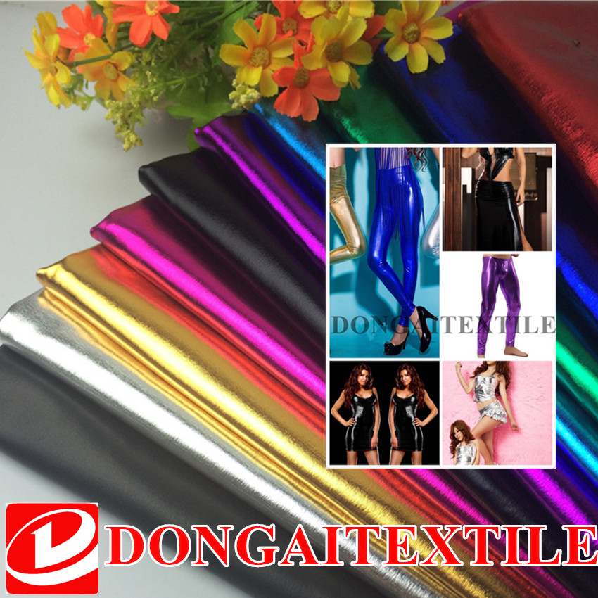 1.5m*1m Stretch Shiny Gold Foil bronzing Spandex Fabric Material PU glossy leather fabric for DIY stage cosplay cost sunshade