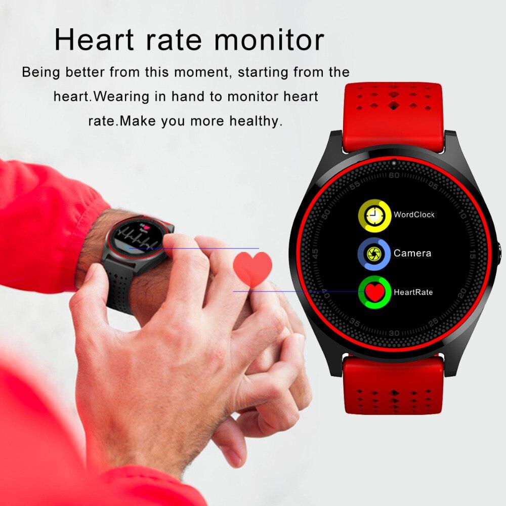 50pcs Bluetooth Smart Watch V9h Micro SIM card With Camera Pedometer Health Sport MP3 music Clock