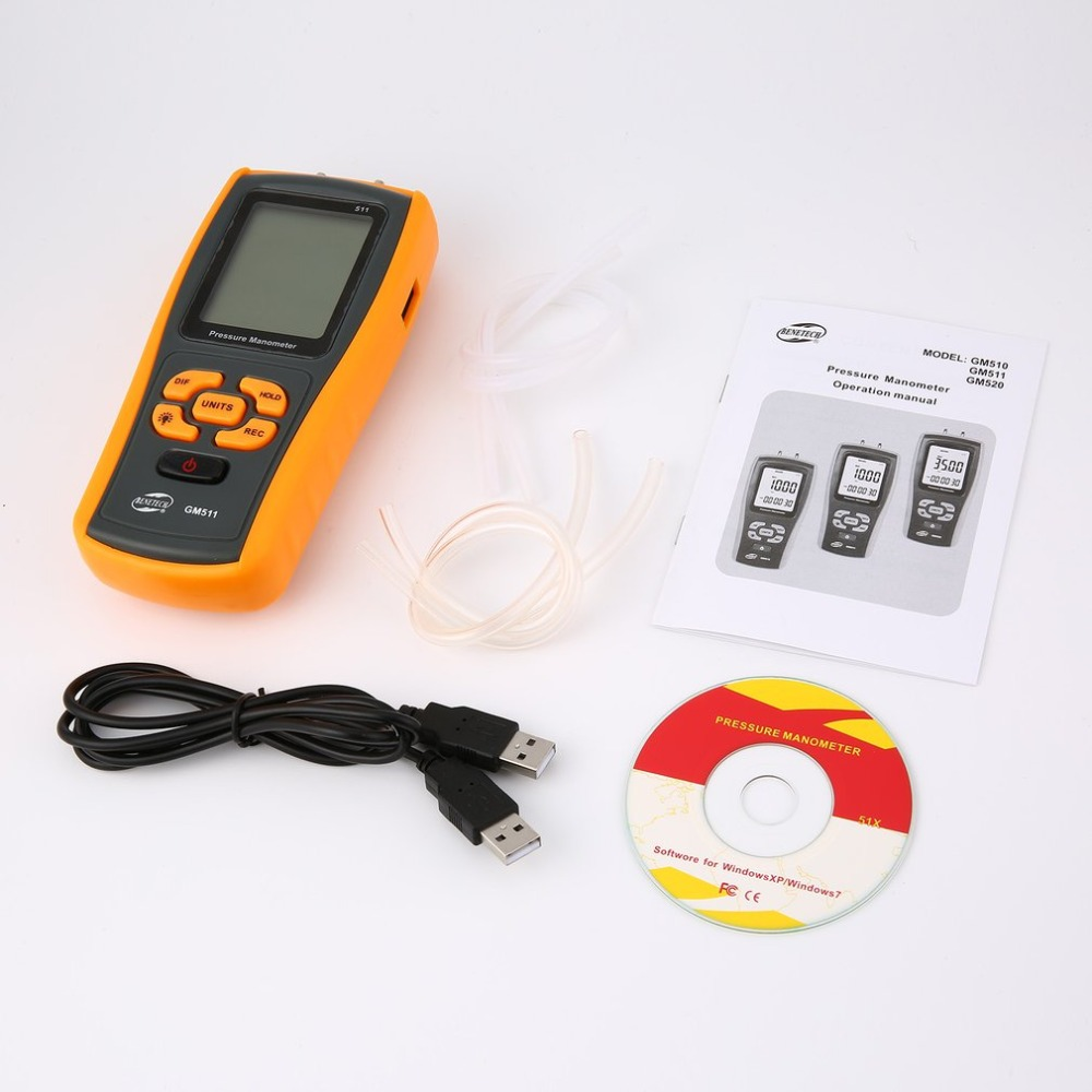 High precision digital pressure gauge GM510 micro-pressure gauge differential pressure manometer air pressure gauge цена