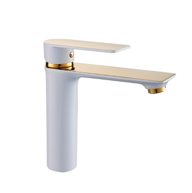 new arrival high quality brass white and gold finished unique design single lever bathroom sink tap basin faucet new arrival high quality brass green and chrome finished single lever bathroom single lever sink tap basin faucet