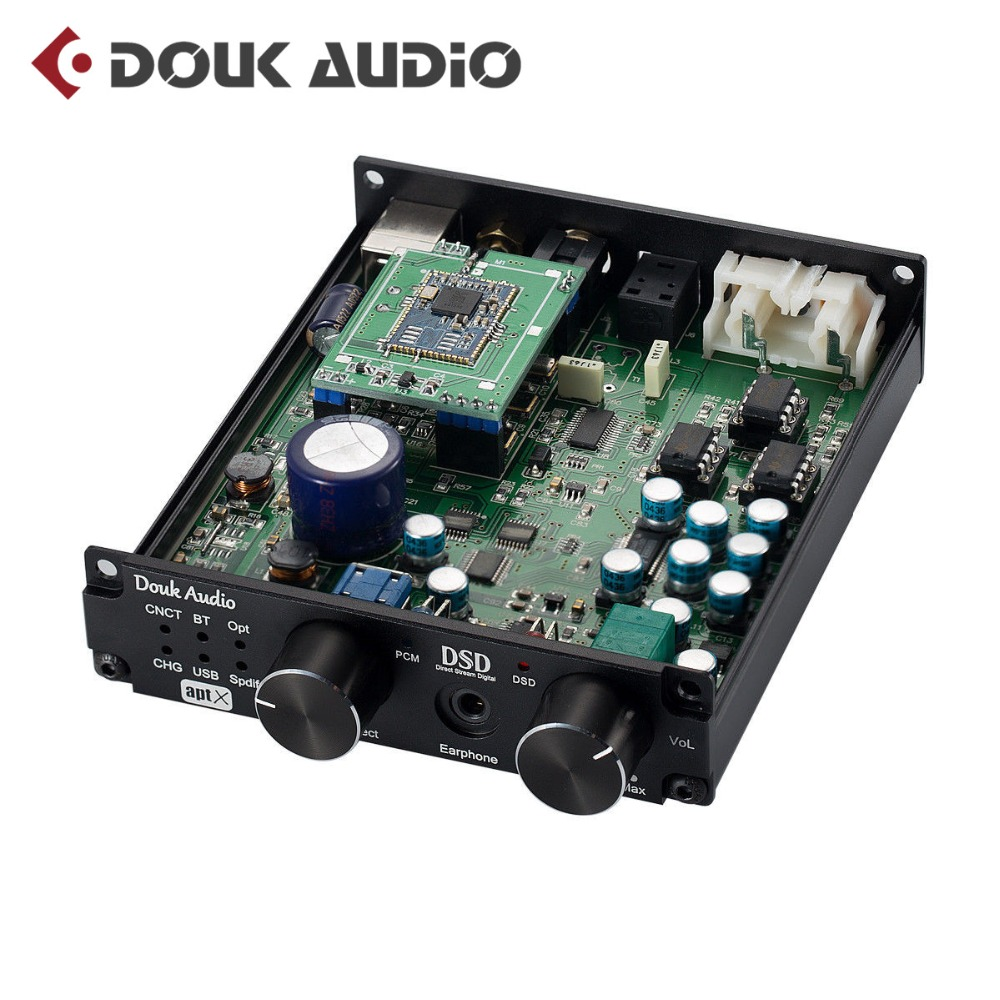 Douk audio Mini Bluetooth 4.0 ATPX USB XMOS DAC DSD256 PCM384K Amplificatore Decoder Con La Cuffia Martinetti